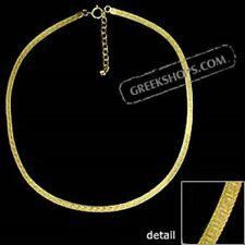 Ancient Greek Gold Overlay Greek Key Single Necklace