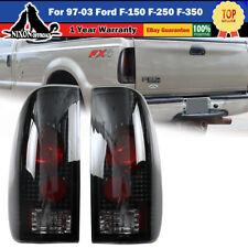 For 97 03 Ford F15099 07 F250 F350 Super Duty Tail Lights Black Smoke Rear Lamp Fits 1997 Ford F 150