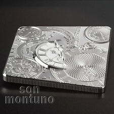 TIME CAPSULE COIN 1 oz Square Shaped Silver Proof-Like Coin 2017 Cook Islands $5