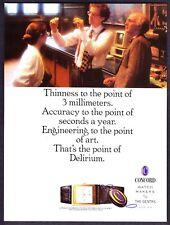 1989 Concord Delirium Thinnest Watch & IBM 5150 Personal Computer photo print ad