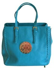 Women's Fashion Aqua Blue Shopping Tote, Shoulder Bag Handbag Beach Travel Bag