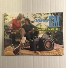 Vintage Nikon EM 35mm SLR Film Camera -Genuine Owner's Manual