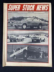 Vintage 1966 Super Stock New Magazine Drag Car Racing Publication