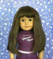 Monique JUDY #2  Lt. Brown Full Adj. Cap Doll Wig Size 10-11 American Girl Sz