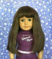 Monique JUDY #4  Lt. Brown Full Adj. Cap Doll Wig Size 10-11 American Girl Sz