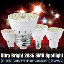 E14 E27 MR16 GU10 SMD 2835 Bombillas AC 220V 4/6/8W ahorro de energía Spotlight