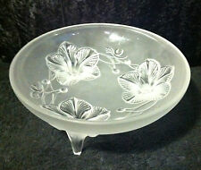 Lalique 3 Footed Orchidee Lys Bowl Perfect