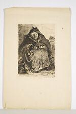 Une Bonne Femme Gravure de L. Lucas d'après Léopold Flameng fin XIX° S