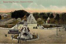 Buenos Aires,Argentina,S.A.,Plaza Italia,Monumento a' Garibaldi,Trolley,c.1909