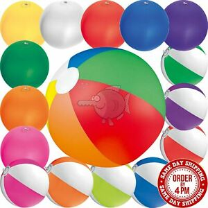 Inflatable Blow Up Beach Ball Holiday Swimming Colour Pool Party Toy Blowing