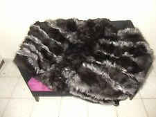 Luxury Silver Fox Fur Throw / Blanket Real Fox Fur Bedspread