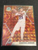 2019-20 Mosaic Cameron Johnson Reactive Orange Prizm Rookie Card RC Suns
