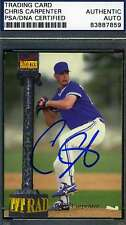 CHRIS CARPENTER 1994 SIGNATURE ROOKIE PSA/DNA SIGNED ORIGINAL AUTOGRAPH