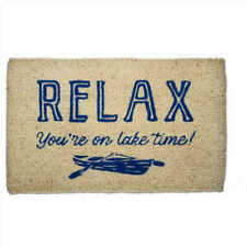 Tag Coir Doormat Relax You're On Lake Time