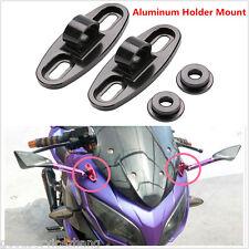 Universal 2pcs Aluminum Rearview Mirror Fairing Adapters Holder Mount