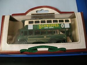 DAYS GONE PREMIER COLLECTION 1928 KARRIER E6 TROLLEY BUS SCWEPPES LIME JUICE
