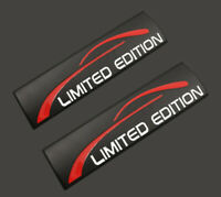 2x Limited Edition Kofferraum Emblem Autoaufkleber Schwarz Metall Audi Jeep 3D