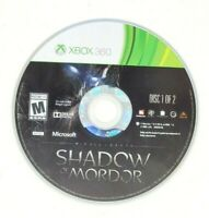 Middle Earth Shadow of Mordor Microsoft Xbox 360 X360 Game Disc 1 Only