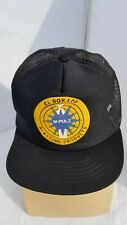 Vintage El Dorado Blasting Products M-Pulz Snapback Hat Cap USA Made Black Mesh