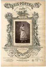 Lemercier, Paris-Portrait, Louise Thuillier, chanteuse Vintage albumen Print T