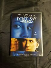 Dont Say a Word (DVD, 2002)