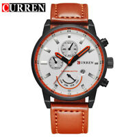 CURREN Men Quartz Watch Casual Brand Male Calendar Wristwatch Leather Watches