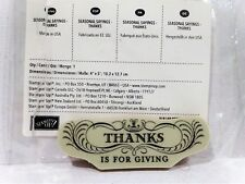 Stampin Up THANKS IS FOR GIVING stamp single clear mount thanksgiving