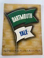 Vintage Dartmouth vs Yale Football Program Nov. 2, 1946 NCAA Ivy League College