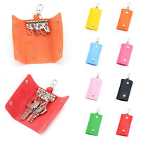 Simple Wallet Cover Leather Keychain Holder Housekeeper Storage Bags Key Bag