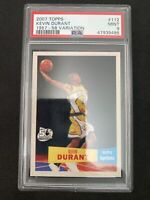 2007-08 Topps 1957-58 Retro Variation #112 Kevin Durant RC Rookie Card PSA 9 Net