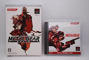 PS1 METAL GEAR SOLID 20th Anniversary Edition w/slipcase Japan import MGS Kojima