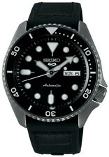 Seiko 5 Sports Black Dial Strap Automatic Mens Watch SRPD65K3 RRP £280