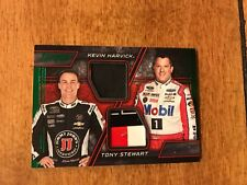 2016 TORQUE NASCAR PAIRINGS MATERIALS GREEN KEVIN HARVICK TONY STEWART /25