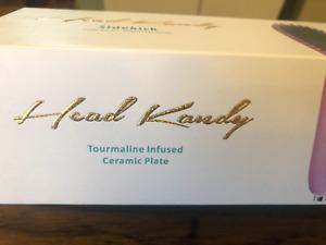 "Nice!! HEAD KANDY Tourmaline Infused Ceramic Plate""BRUSH STRAIGHTENER"" Preowned"