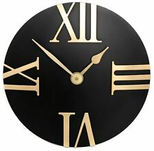 2624b4f6e216 Reloj de pared 30cm de estilo moderno negro y oro