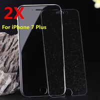2X Diamond Sparkling Glitter Tempered Glass Screen Protector For iPhone 7 Plus