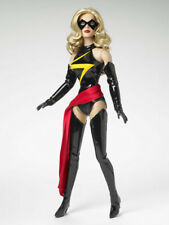 Ms. Marvel Tonner 16in Doll Vinyl Bodysuit Boots Gloves Mask Sash Long Hair New!