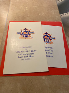 New York Mets 25TH ANNIVERSARY Folder/collage July 12, 1986 Old Timers Game