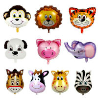 Animal Cartoon Foil Balloons Kids Decor Safari Jungle Birthday Baby Shower Party