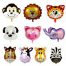 Cartoon Foil Balloon Safari Jungle Animal Head  Kids Inflatable Toys Zoo Theme