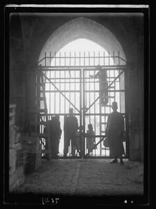 Putting iron gates at the New Gate,Jerusalem,Israel,Middle East,October 19 2656