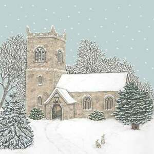 Sally Swannell Christmas Church Box of 8 Christmas Cards