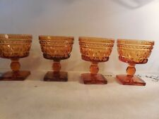 4 Indiana Glass Co Colony Golden Amber Park Lane 5 oz Sherbets/Short Champagnes