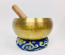 """6"""" (Throat)  Hammer Finished singing Bowl 970g - Made In Nepal ॐ"""