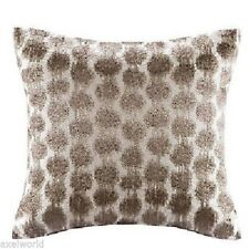 """Echo """"Odyessy"""" 1Pc Piece 16"""" Square Embroidered Taupe Nip"""