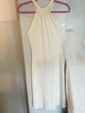 CELINE WHITE HALTER DRESS