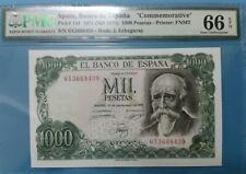 """1971 SPAIN 1000 PESETAS **MADRID**  PMG66 EPQ  <P-154>GEM UNC """"Commemorative"""""""