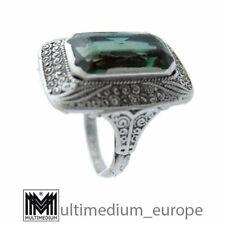 Theodor Fahrner Art Deco Silber Ring synth. grüner Stein silver 🌺🌺🌺🌺🌺