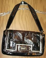 Anya Hindmarch for Target Purse Handbag Shoulder Bag Black Shiny See Descript