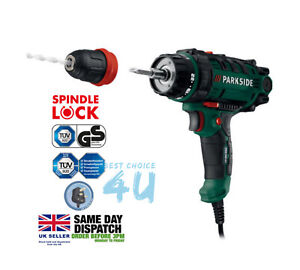 PARKSIDE 2 in 1 Corded Drill & Screw Driver 300W - Uk Plug - Same Day Dispatch